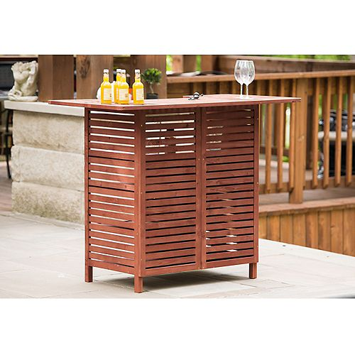 Leisure Season Outdoor Bar With Storage