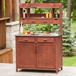 Leisure Season Outdoor Kitchen Prep Station