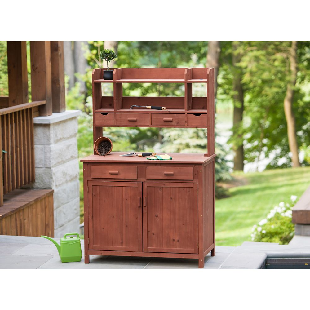Leisure Season Potting Bench With Storage