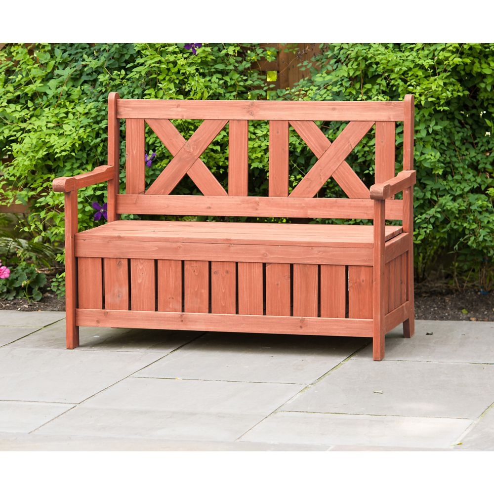 Leisure Season Patio Bench with Storage