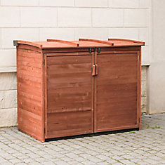Large Horizontal Refuse Storage Shed