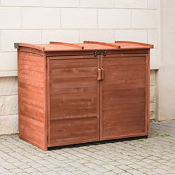 Leisure Season Large Horizontal Refuse Storage Shed