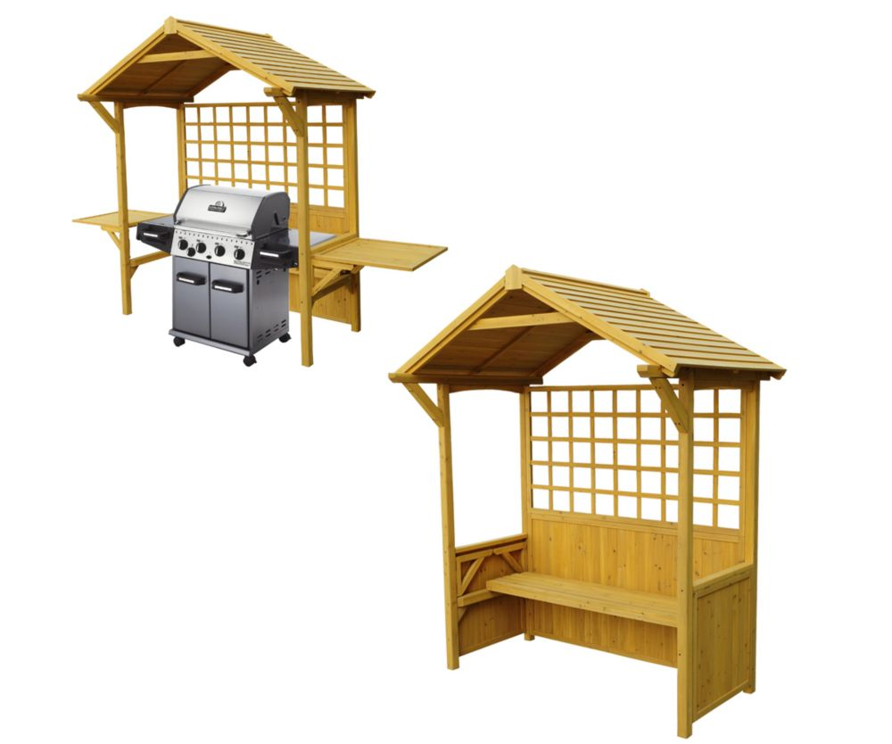 Two-In-One Seated Party Arbour / Barbeque Shelter