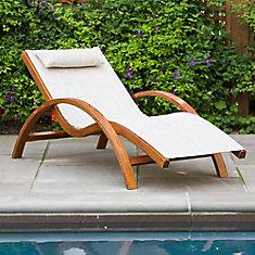 Chaise longue basculante
