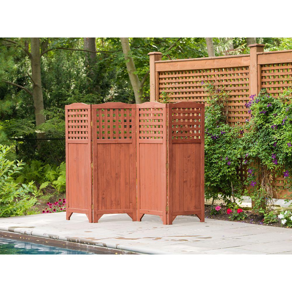 Leisure Season Folding Patio And Garden Privacy Screen