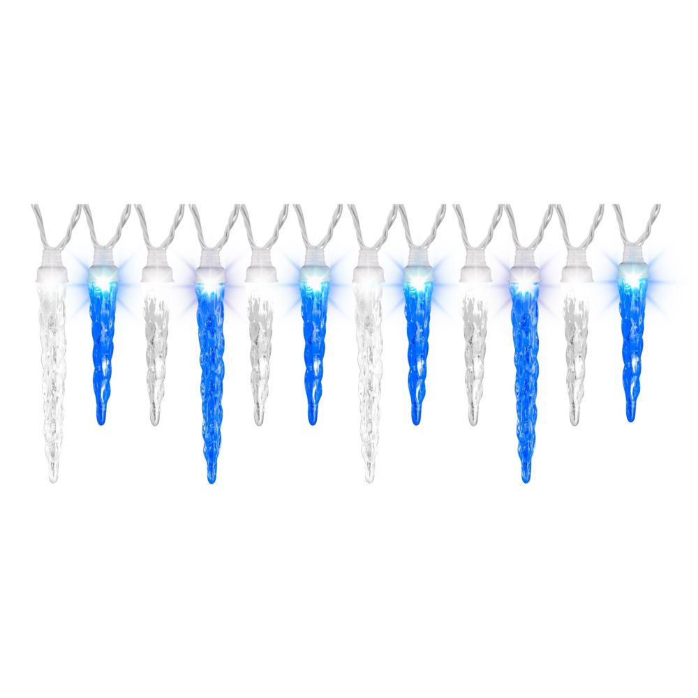 Blue White Light Show-S/12-ICICLE