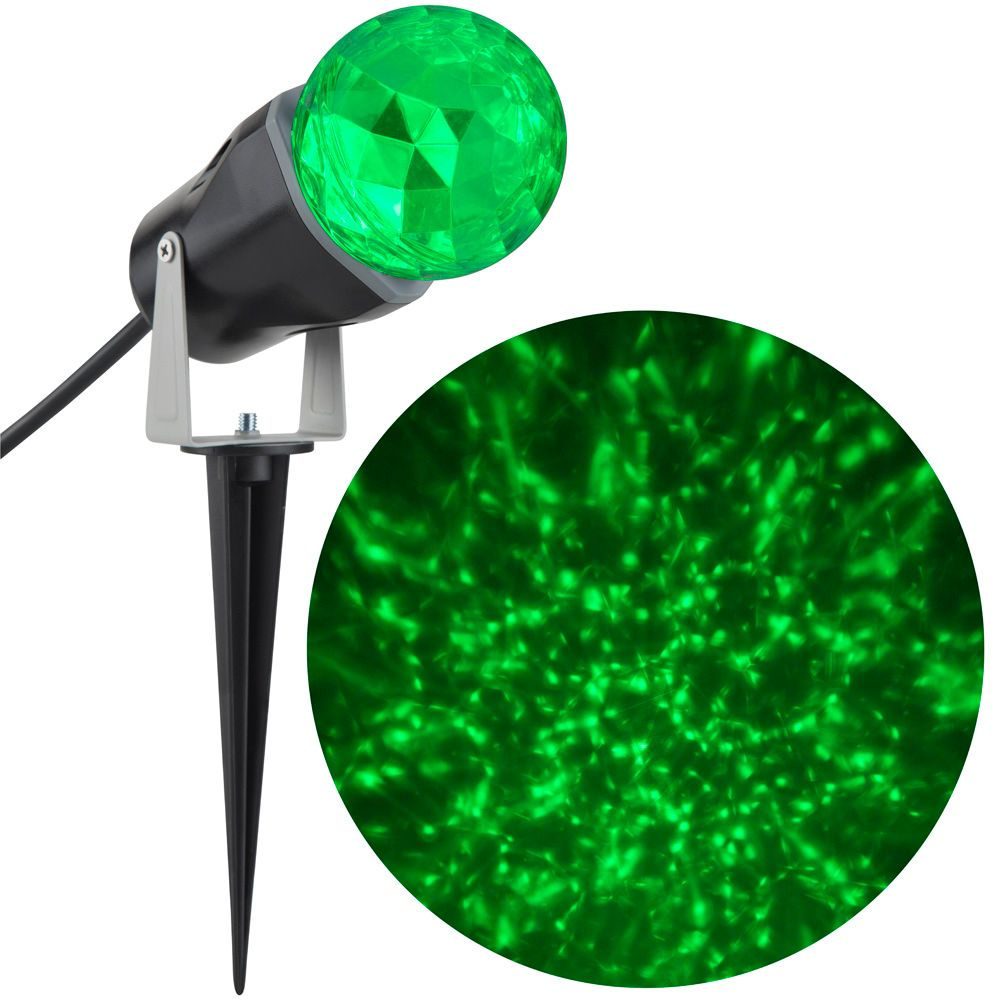 Kaleidoscope 1 LED Spotlight-Green