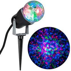 LightShow Kaleidoscope Multi-Colour LED Spotlight Holiday Scene Projector