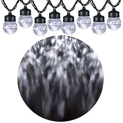 Lightshow led kaleidoscope projection string lights with mounting led kaleidoscope projection string lights with mounting clips in white 8 count aloadofball Gallery