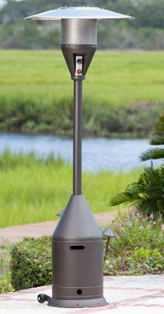 Mocha Powder Coated Conical Shaped Patio Heater