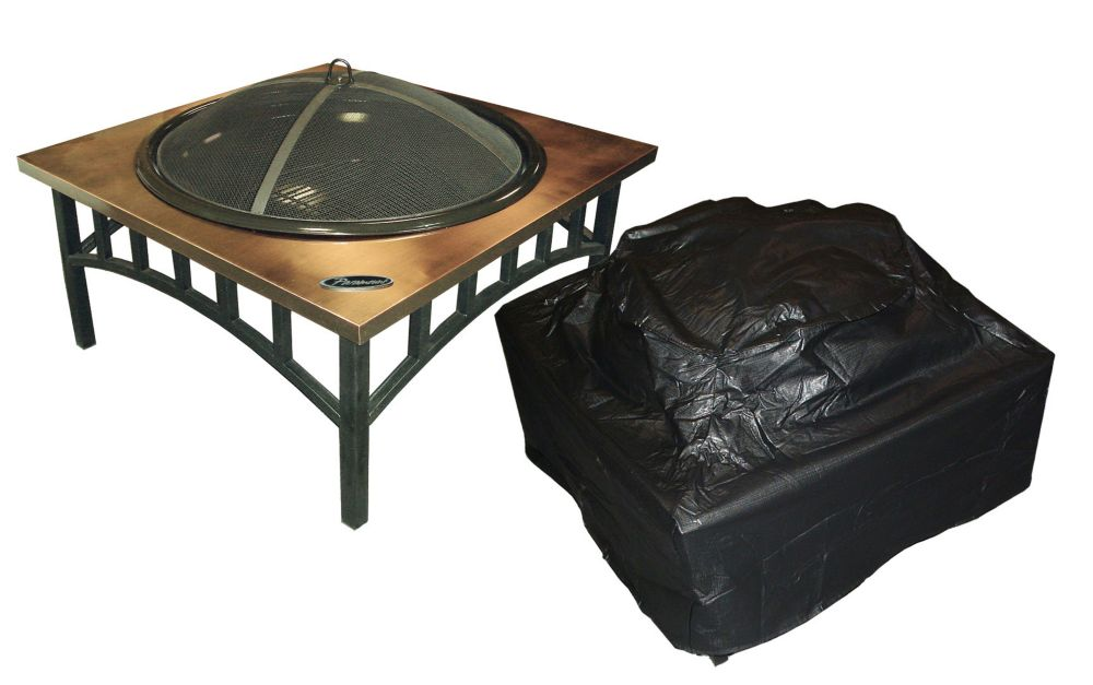 Outdoor Vinyl Square Firepit Cover