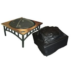 Paramount Outdoor Vinyl Square Fire Pit Cover
