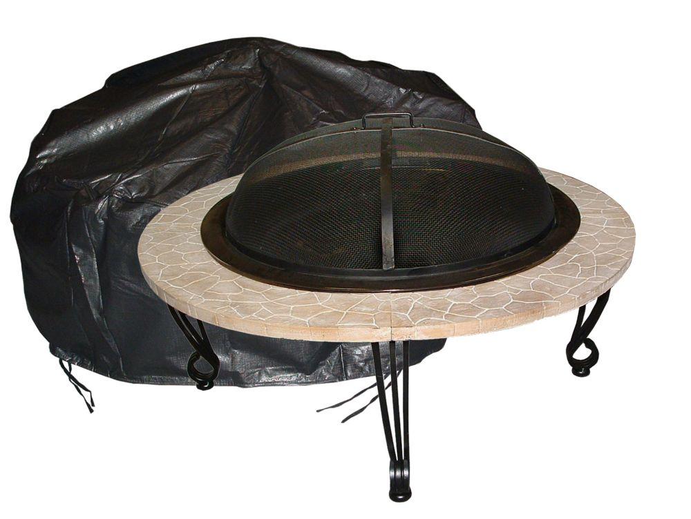 Couverture foyer vinyle ronde