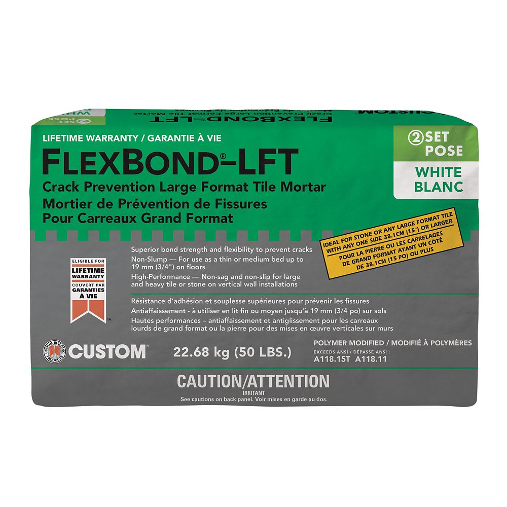 FlexBond LFT Crack prévention moyen lit de mortier blanc - 50 lb.