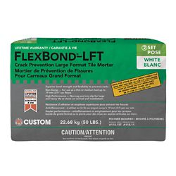 Custom Building Products FlexBond LFT Crack Prevention Medium Bed Mortar White - 50 lb.