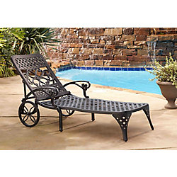 Home Styles Chaise noire Lounge Biscayne