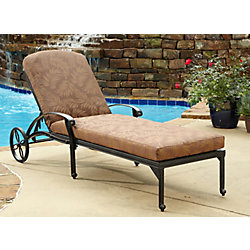 Floral Blossom Chaise Lounge Chair with Cushion