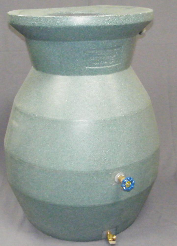 Citerne pluviale à taille réduite despace (imitation pierre verte)