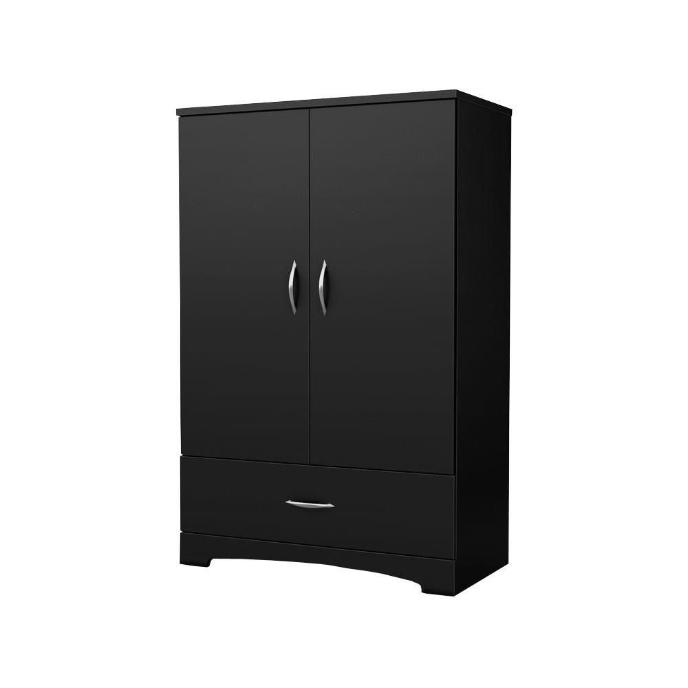 Step One Armoire, Pure Black