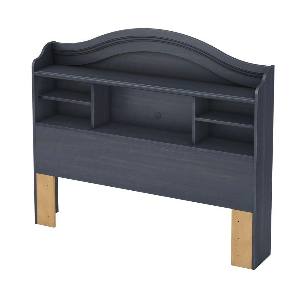 Summer Breeze Collection Full Bookcase Headboard (54'') Blueberry