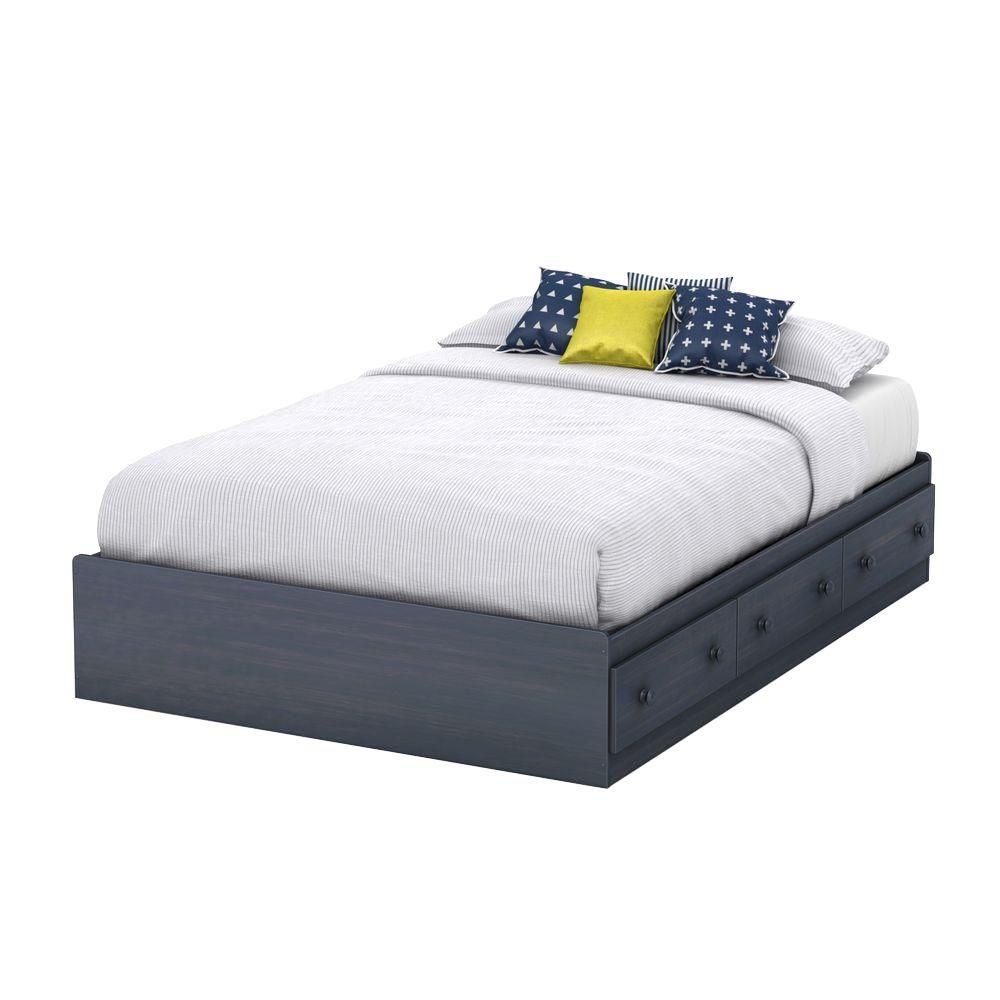 Summer Breeze Collection Full Storage Bed (54'') Blueberry