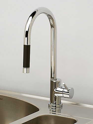 one handle faucet faucets standard edgemere larger pull view chrome kitchen out american