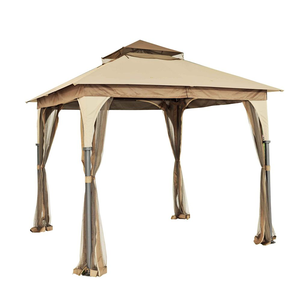 Andrews 8 ft. x 8 ft. Soft Top Gazebo with Vented Canopy