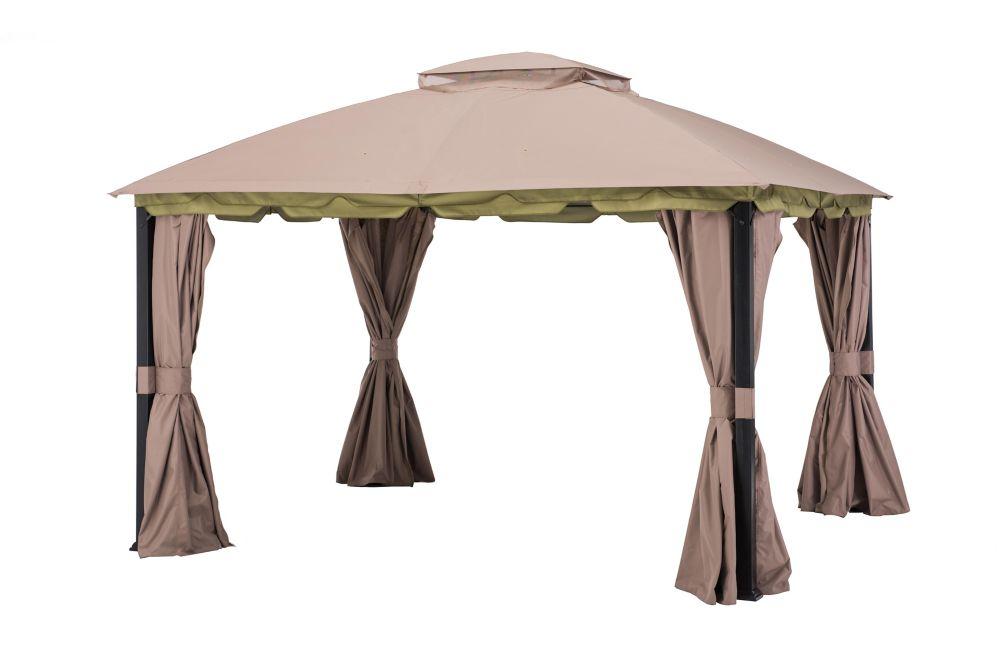 Carrington 12 ft. x 10 ft. Domed Top Rectangular Gazebo