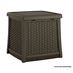 Elements 1.7 cu. ft. Side Table and Deck Box in Brown