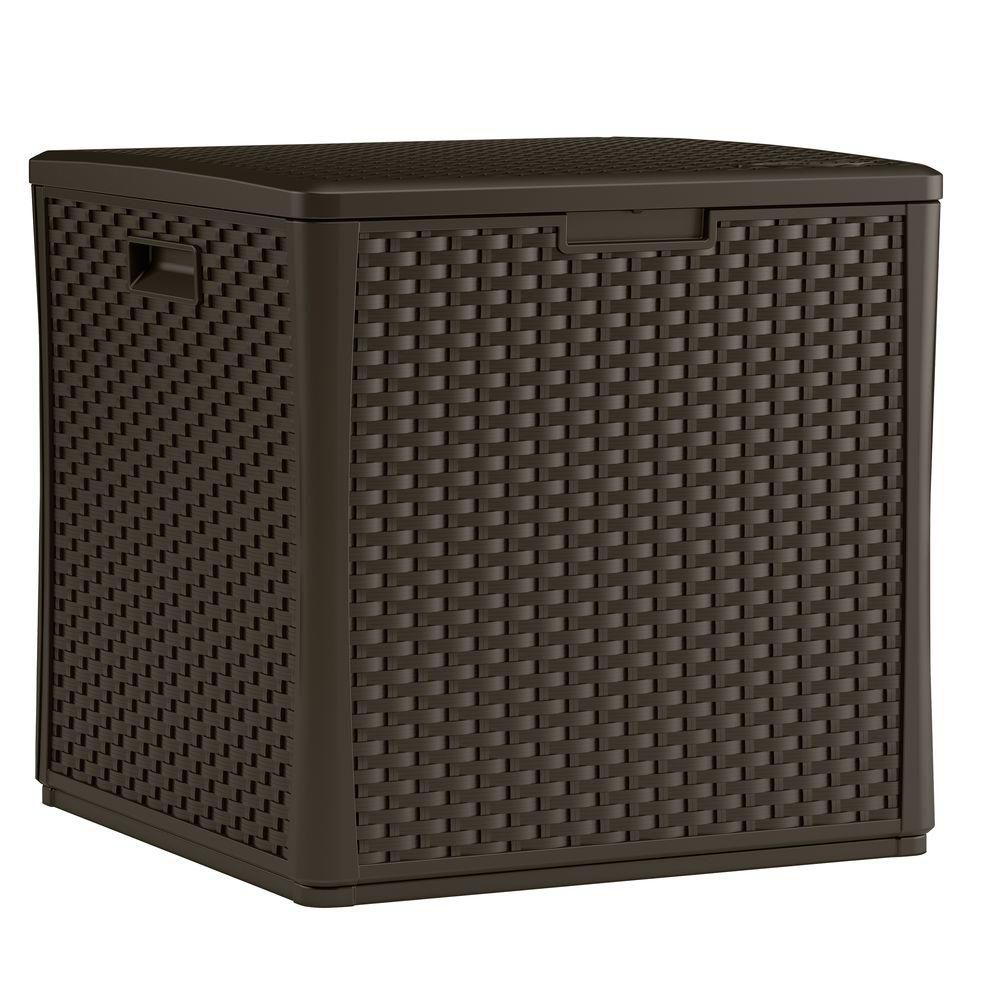 Resin Wicker Cube with Storage (8.02 Cu.Ft.)