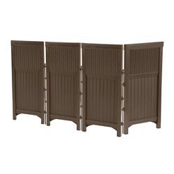 Suncast Resin Wicker Outdoor Screen Enclosure