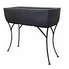 Elevated Planter with Stand Graphite 30 by 10