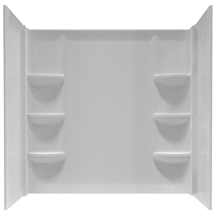 Cadet Polystyrene Shower Wall for 60-Inch  x 30-Inch  Bath Tub