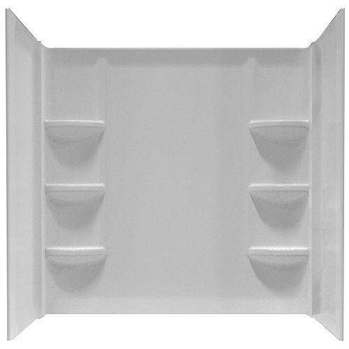 American Standard Cadet Polystyrene Shower Wall for 60-Inch x 30-Inch Bath Tub