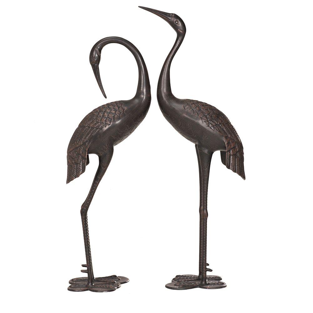 Cast Aluminum Cranes 2-Piece Set