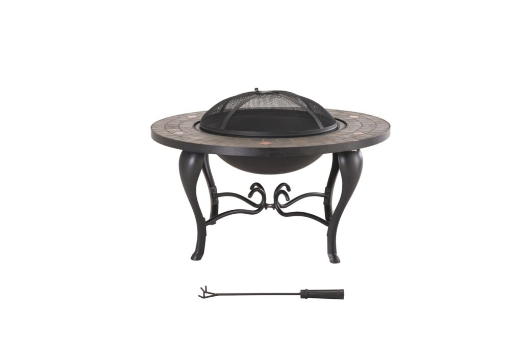 Bavaria 35-inch Wood/Charcoal Outdoor Fire Pit