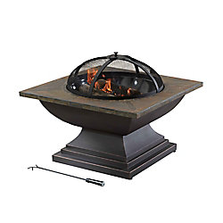 Sunjoy Crossfield 36-inch Wood/Charcoal Outdoor Fire Pit