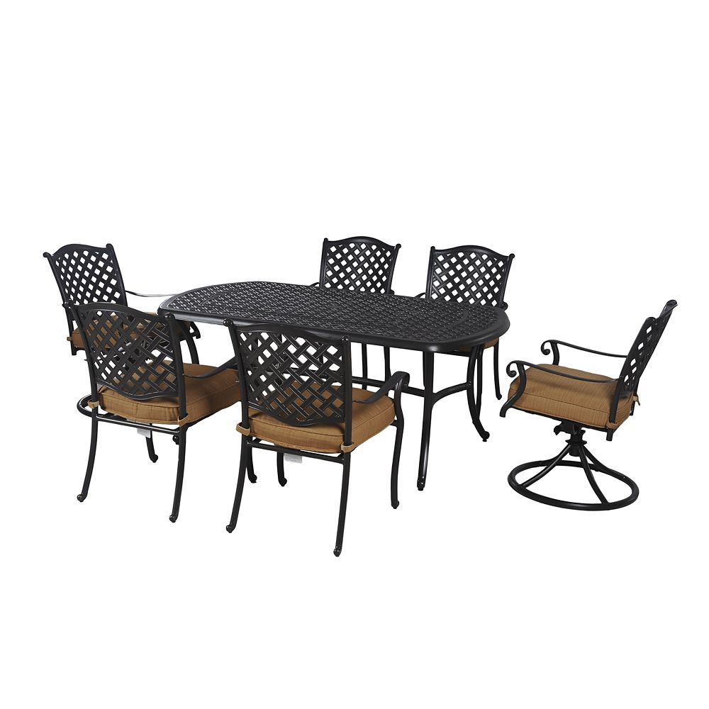 sunjoy ruby 7 piece patio dining set the home depot canada
