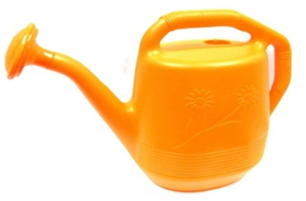 Arrosoir, de couleur orange