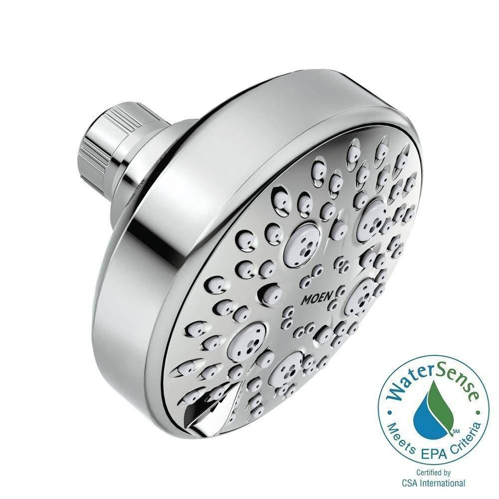 Avira 4-Function Fixed Showerhead with Hydroboost in Chrome