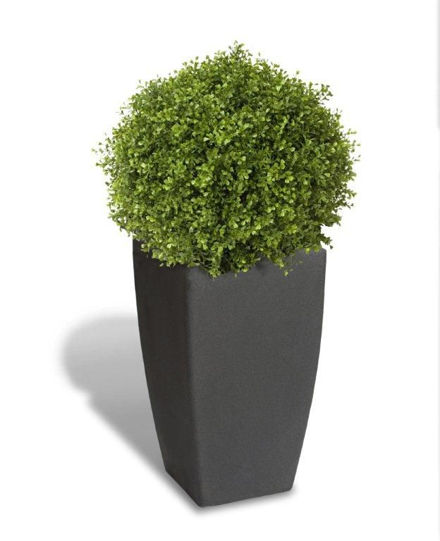 algreen products 12201 self watering modena cube planter in matte granite the home depot canada. Black Bedroom Furniture Sets. Home Design Ideas