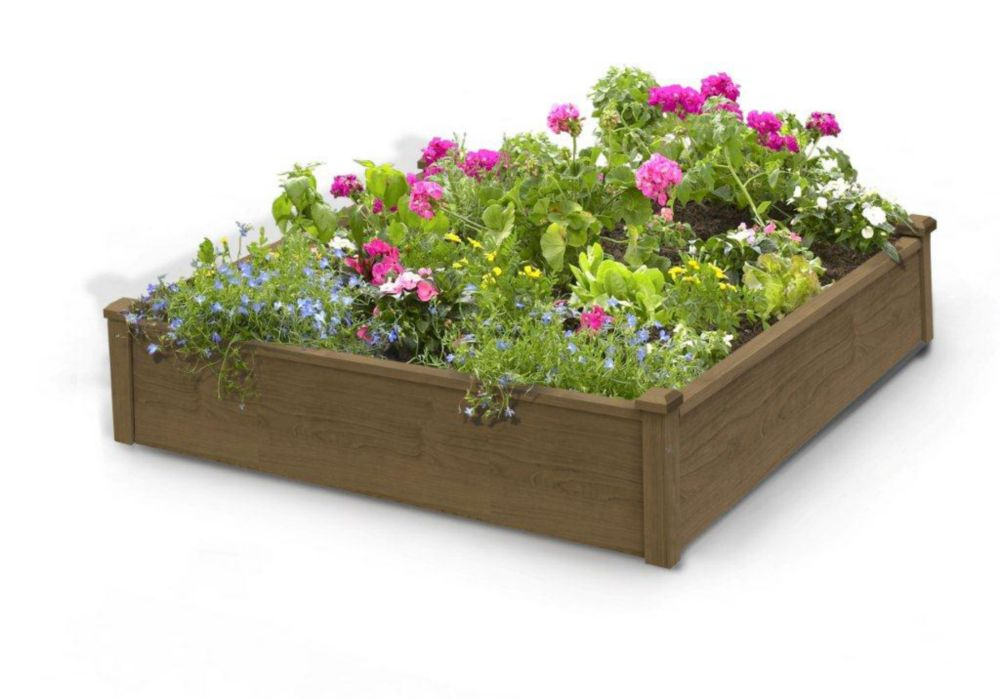 4 ft. x 4 ft. x 12-inch Raised Garden Bed