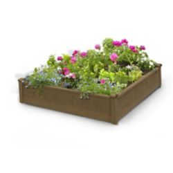 Algreen Products 4 ft. x 4 ft. x 12-inch Raised Garden Bed