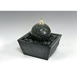 Algreen Products Fontaine de relaxation illuminée avec boule de granit et des pierres naturelles