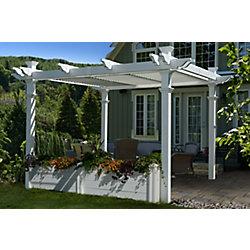 New England Arbors 10 ft. Pergola Garden Bed