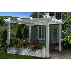 New England Arbors 12 ft. Pergola Garden Bed