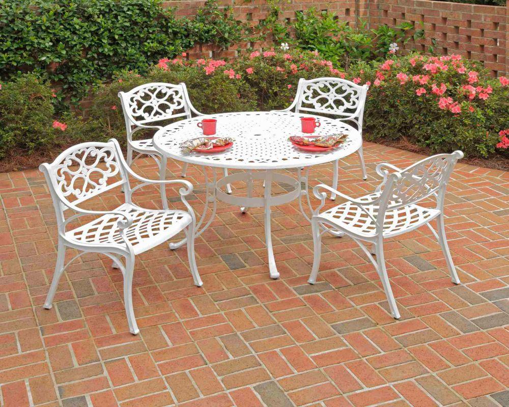 Ensemble de salle à manger 5 pièces Biscayne avec une table de 106cm (42po) et quatre fauteuils...