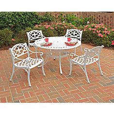 Ensemble de salle à manger 5 pièces Biscayne avec une table de 106cm (48po) et quatre fauteuils avec coussins