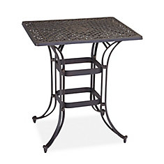 Biscayne Space Saving Rectangle Bistro Table Bronze Finish