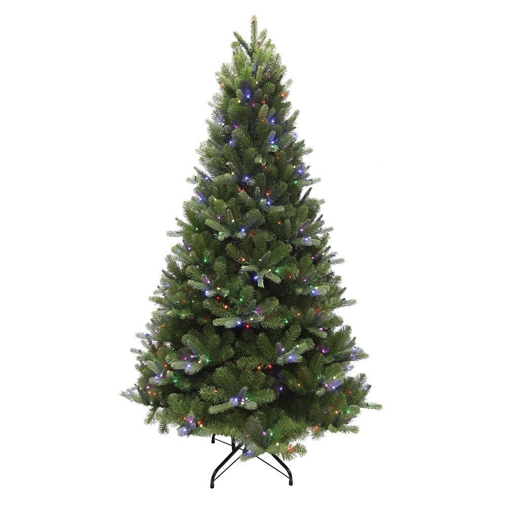 7.5 ft Mount Everest Spruce Artificial EZ Power Christmas Tree - RGB